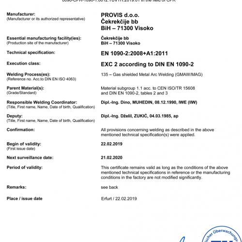 PROVIS-d.o.o.-FB-CPR-1090-1-014-Welding-Certificate_190012_TÜV_TH_2019_01_en_rev.05-500x500